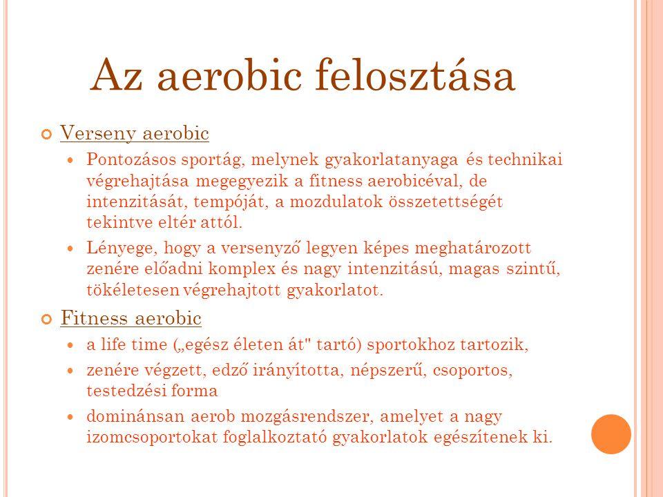 Az aerobic felosztása Verseny aerobic Fitness aerobic