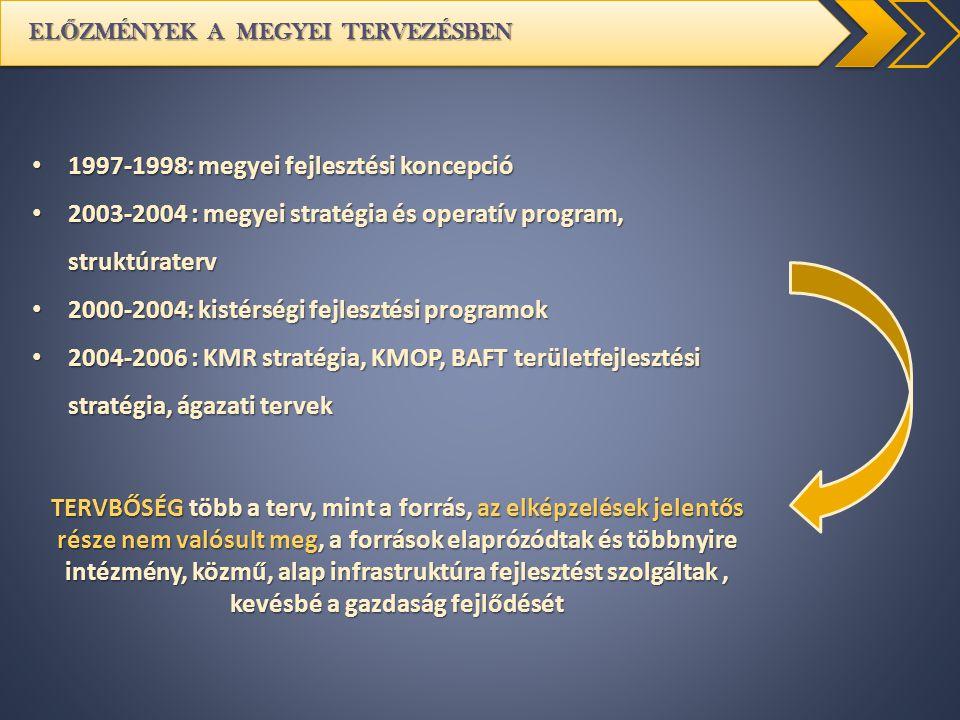 1997-1998: megyei fejlesztési koncepció
