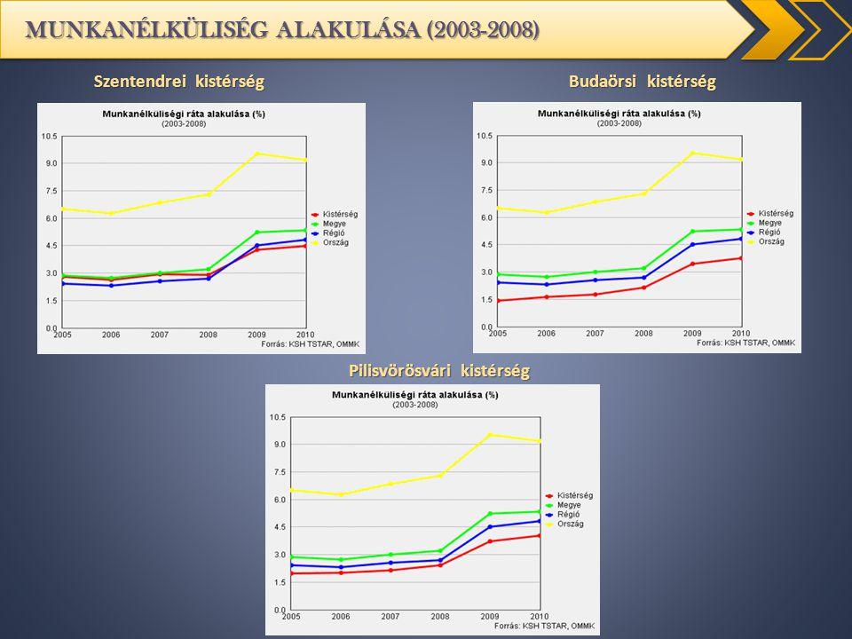 MUNKANÉLKÜLISÉG ALAKULÁSA (2003-2008)