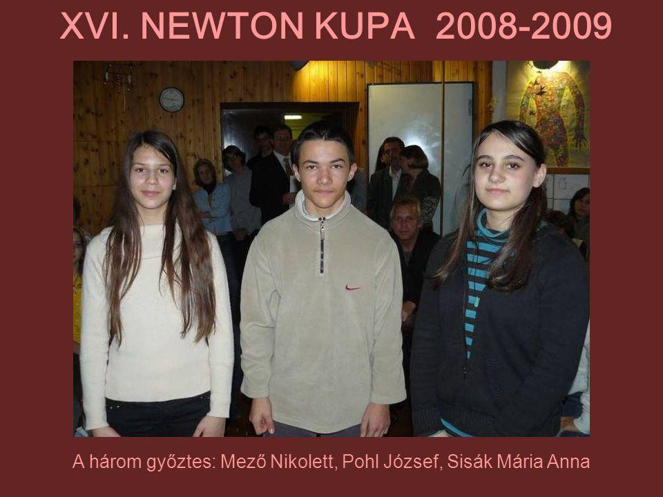A három győztes: Mező Nikolett, Pohl József, Sisák Mária Anna