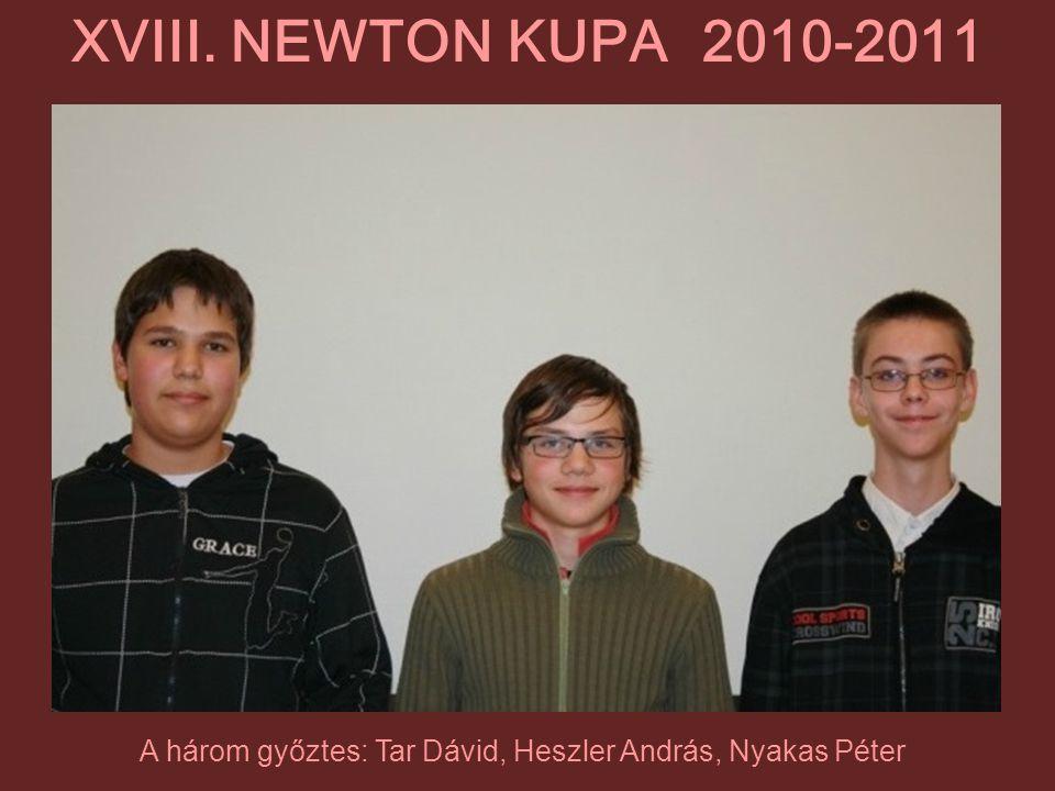 A három győztes: Tar Dávid, Heszler András, Nyakas Péter
