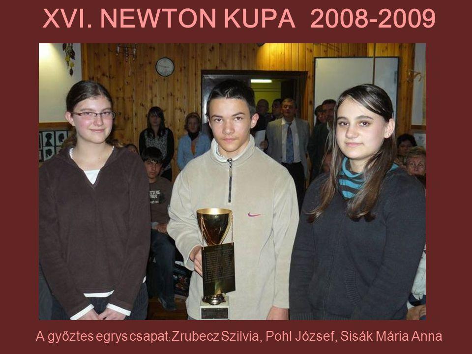 A győztes egrys csapat: Zrubecz Szilvia, Pohl József, Sisák Mária Anna