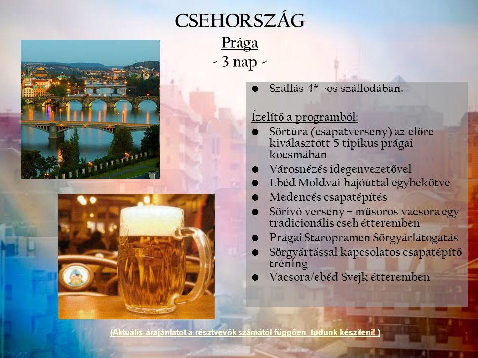 CSEHORSZÁG Prága - 3 nap -