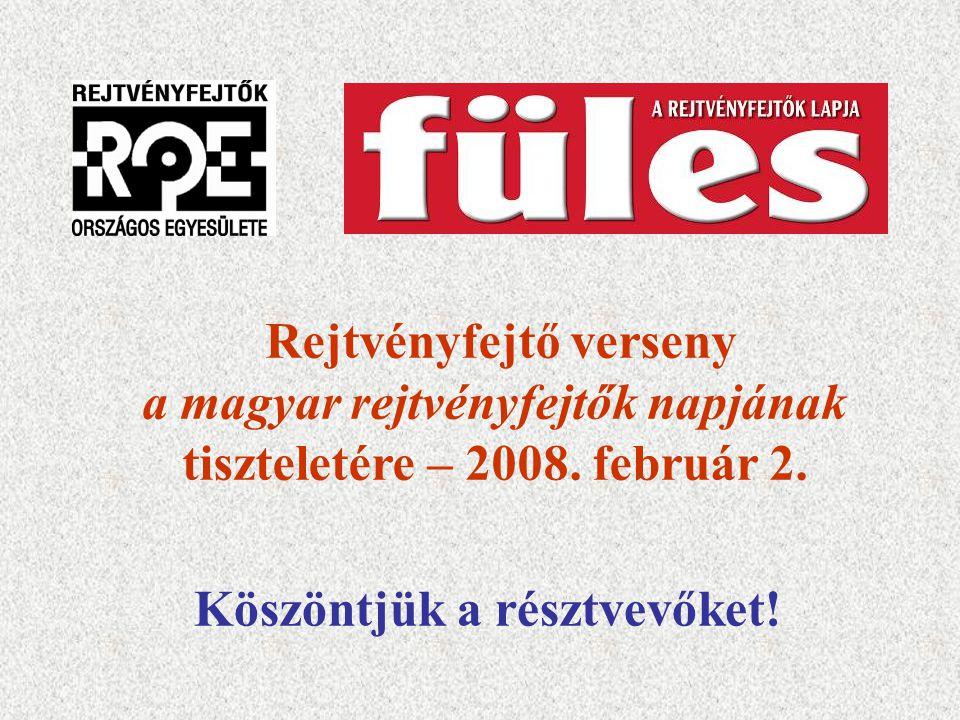 Rejtvényfejtő verseny a magyar rejtvényfejtők napjának
