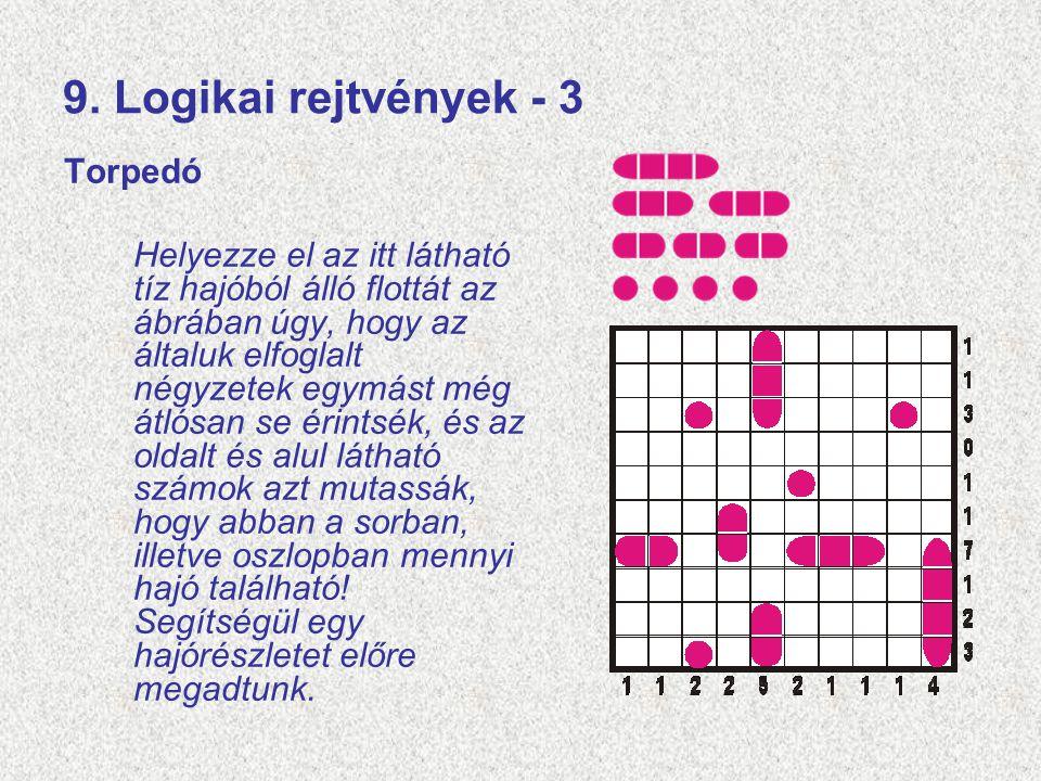 9. Logikai rejtvények - 3 Torpedó