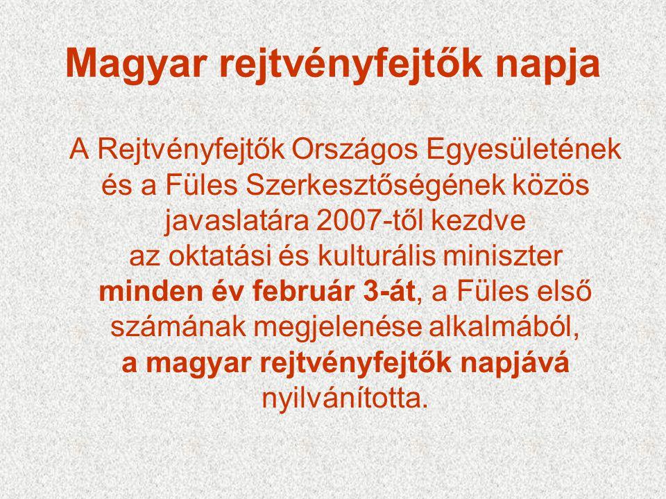 Magyar rejtvényfejtők napja