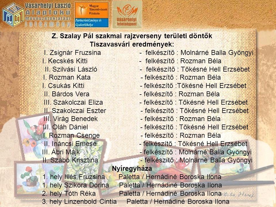 Z. Szalay Pál szakmai rajzverseny területi döntők