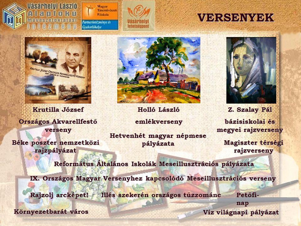 VERSENYEK Krutilla József Országos Akvarellfestő verseny Holló László