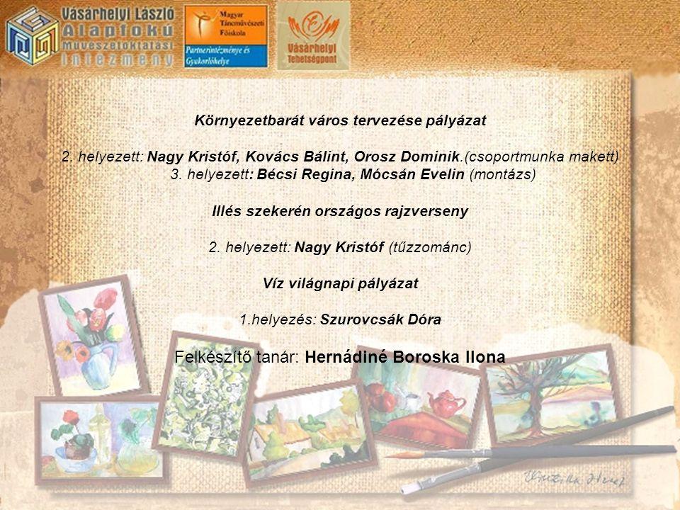 Felkészítő tanár: Hernádiné Boroska Ilona