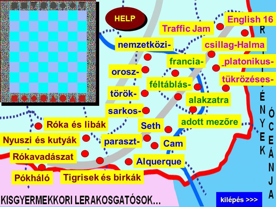 English 16 Traffic Jam nemzetközi- csillag-Halma francia- platonikus-