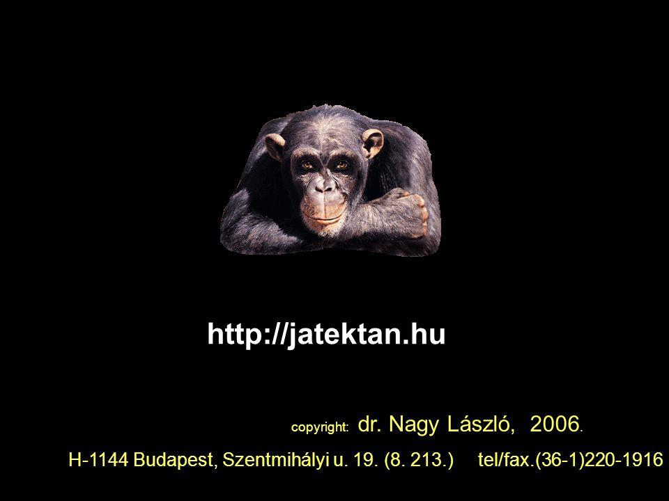 http://jatektan.hu copyright: dr. Nagy László, 2006.