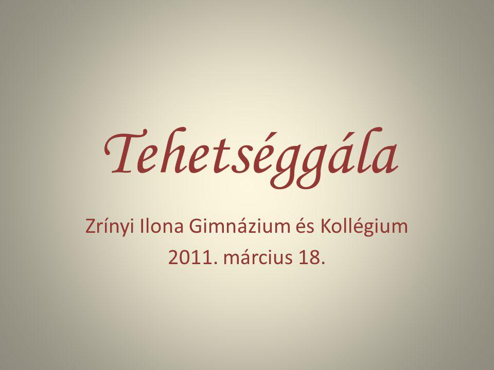 Zrínyi Ilona Gimnázium és Kollégium 2011. március 18.