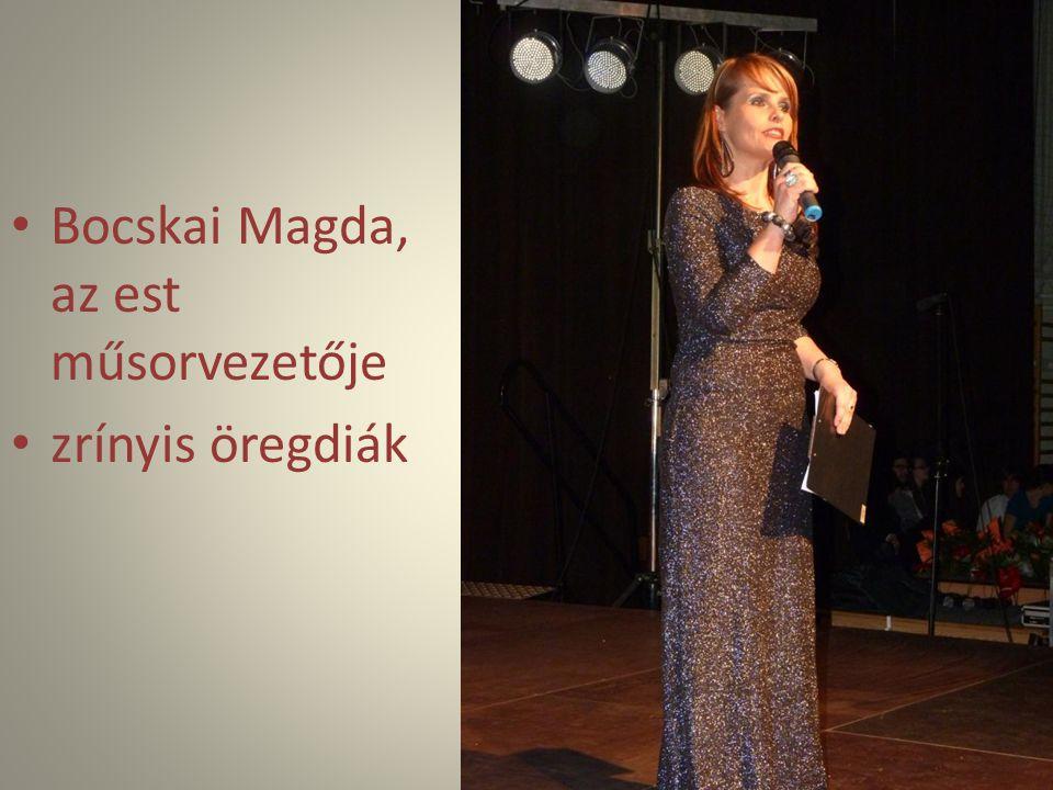 Bocskai Magda, az est műsorvezetője
