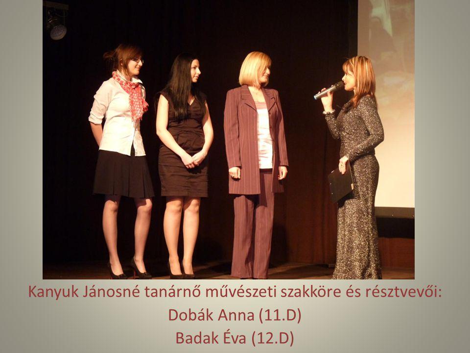 Kanyuk Jánosné tanárnő művészeti szakköre és résztvevői: