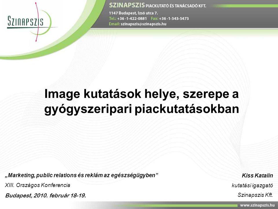 Image kutatások helye, szerepe a gyógyszeripari piackutatásokban