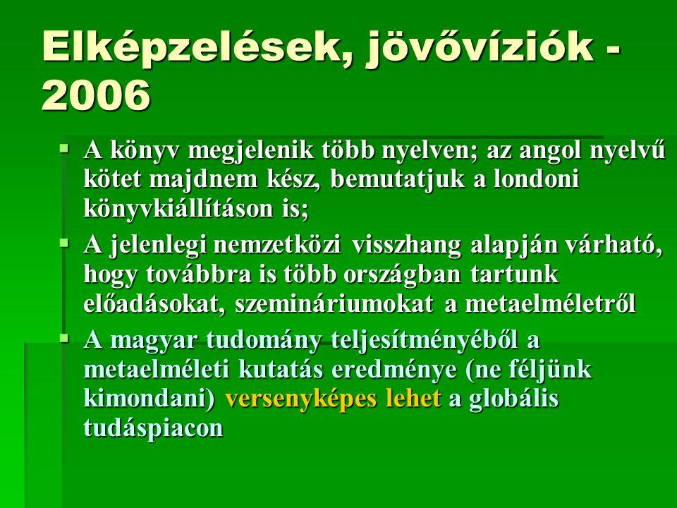Elképzelések, jövővíziók - 2006