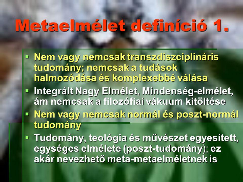 Metaelmélet definíció 1.