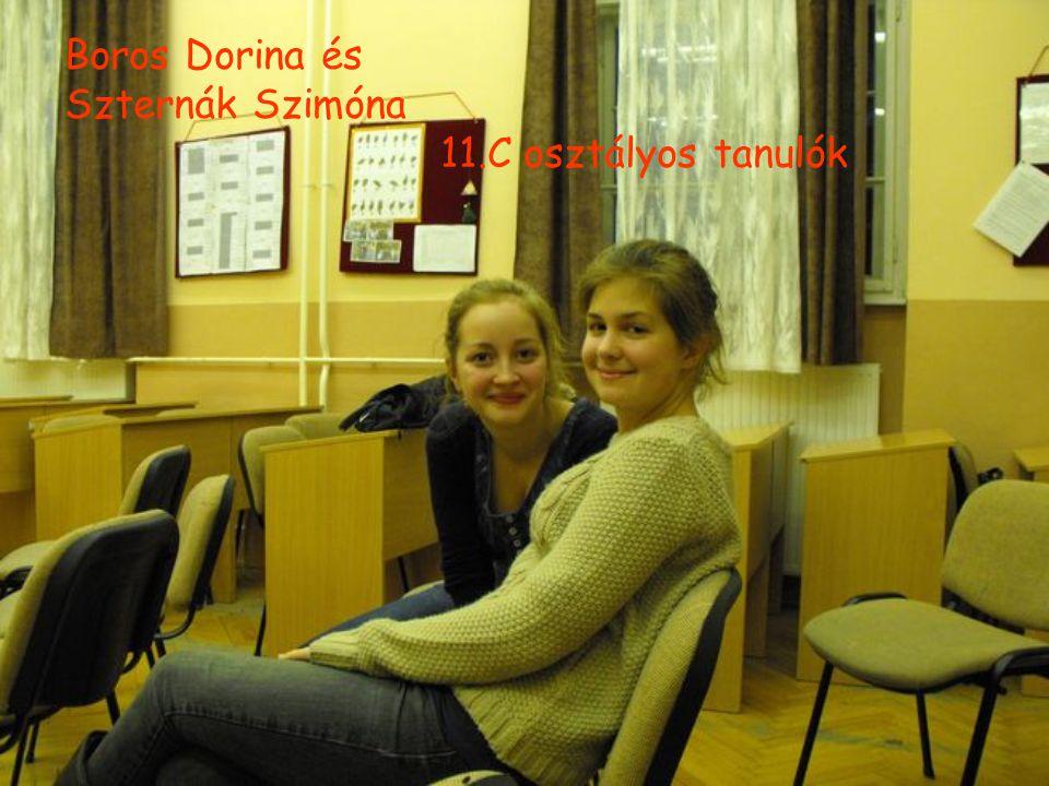 Boros Dorina és Szternák Szimóna 11.C osztályos tanulók