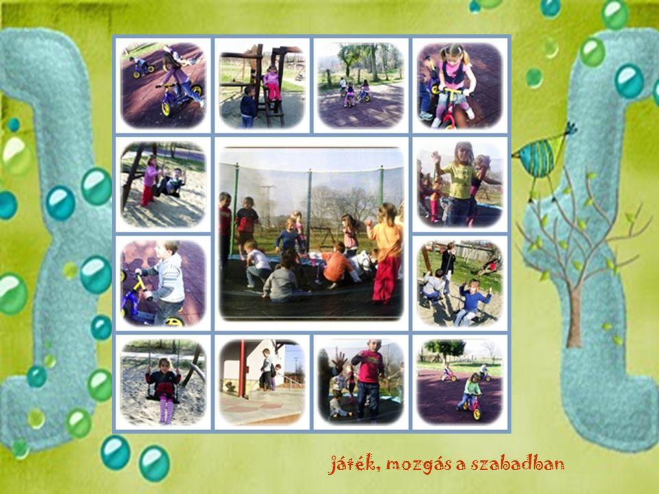 játék, mozgás a szabadban