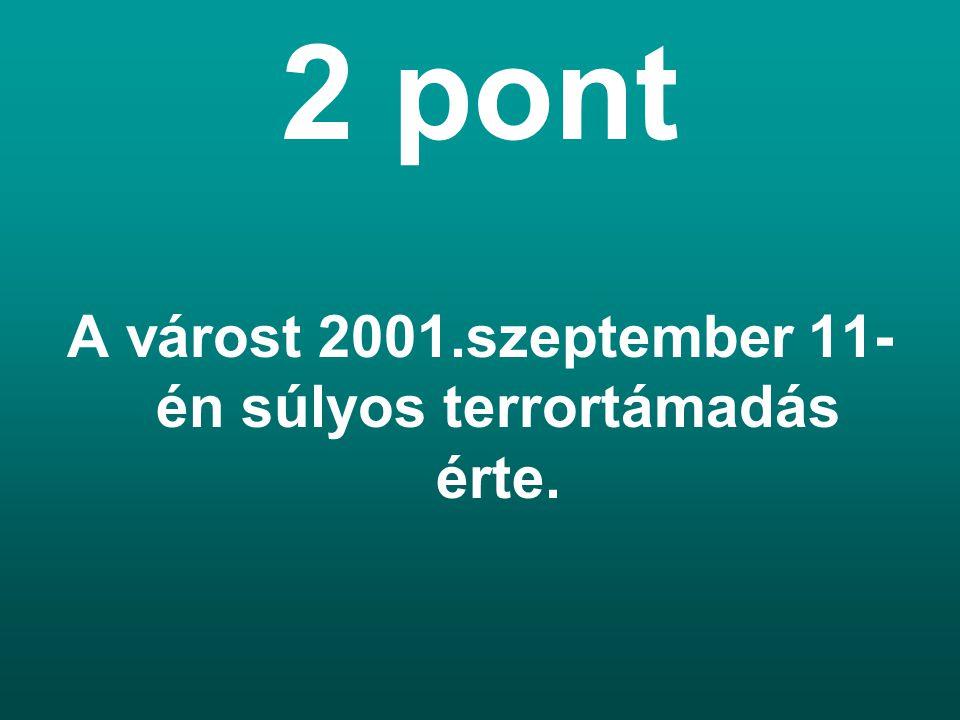 A várost 2001.szeptember 11-én súlyos terrortámadás érte.
