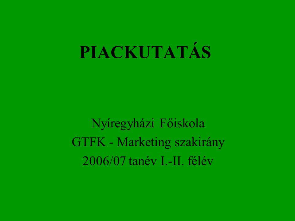 GTFK - Marketing szakirány
