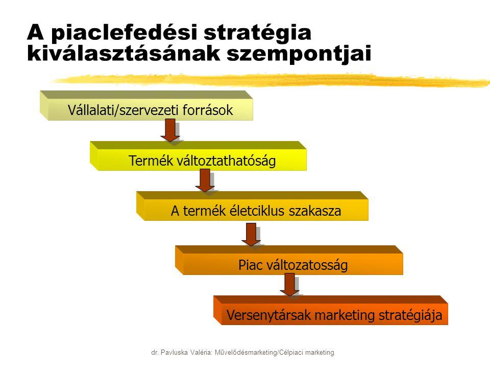 A piaclefedési stratégia kiválasztásának szempontjai