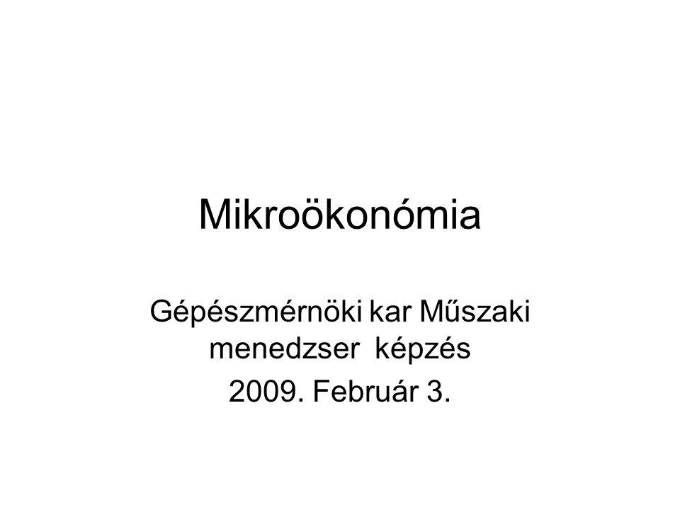 Gépészmérnöki kar Műszaki menedzser képzés 2009. Február 3.