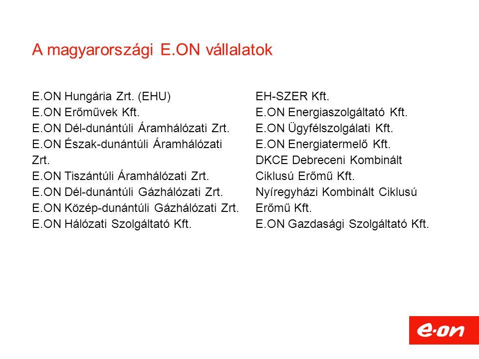 A magyarországi E.ON vállalatok