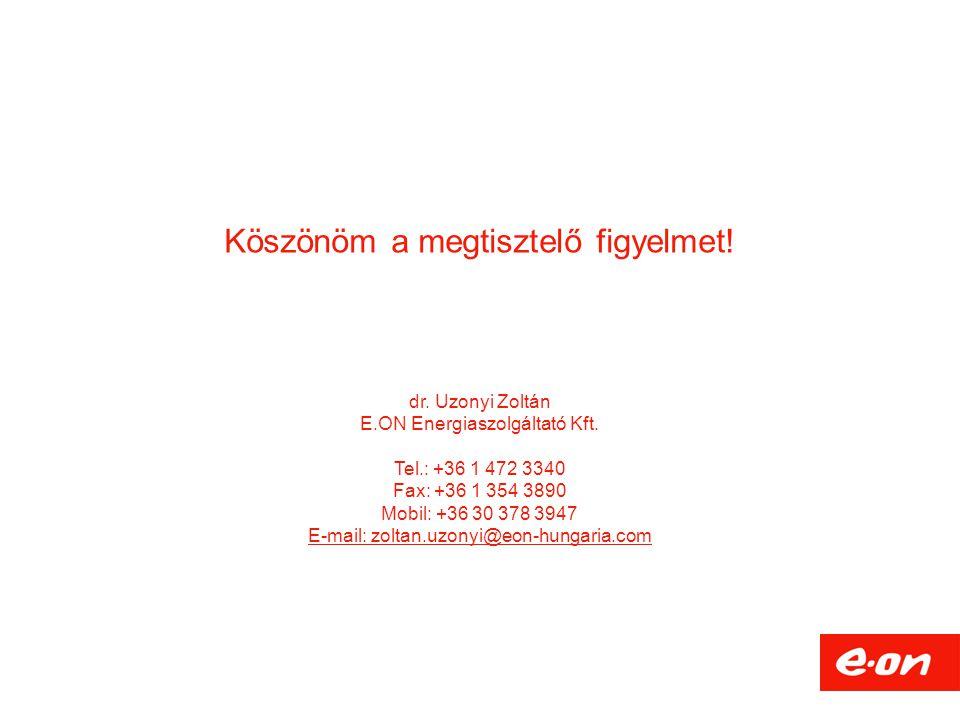 Köszönöm a megtisztelő figyelmet. dr. Uzonyi Zoltán E