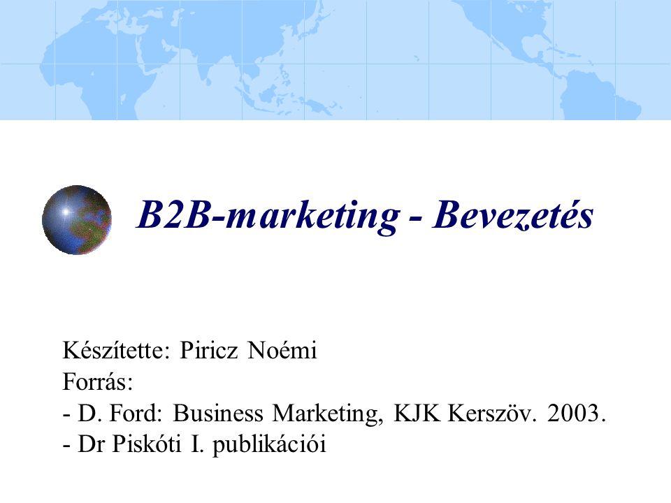 B2B-marketing - Bevezetés