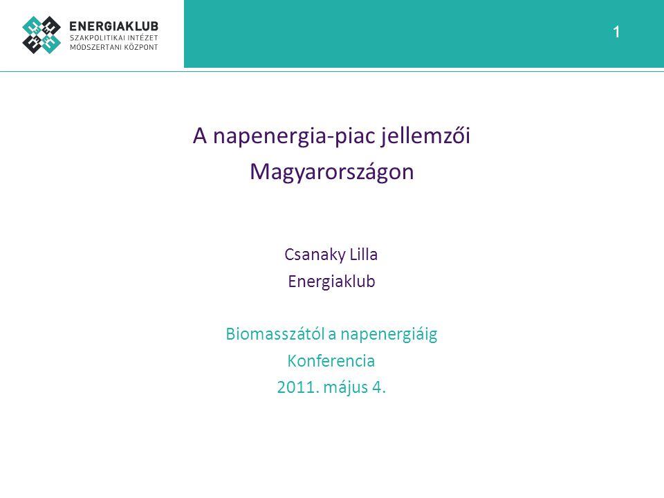 A napenergia-piac jellemzői Magyarországon