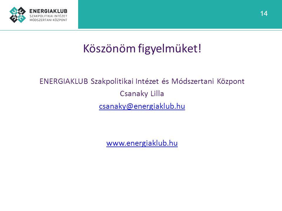 ENERGIAKLUB Szakpolitikai Intézet és Módszertani Központ