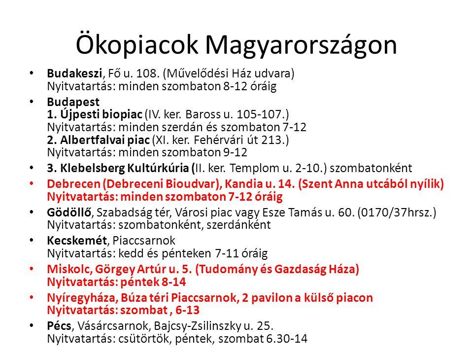 Ökopiacok Magyarországon