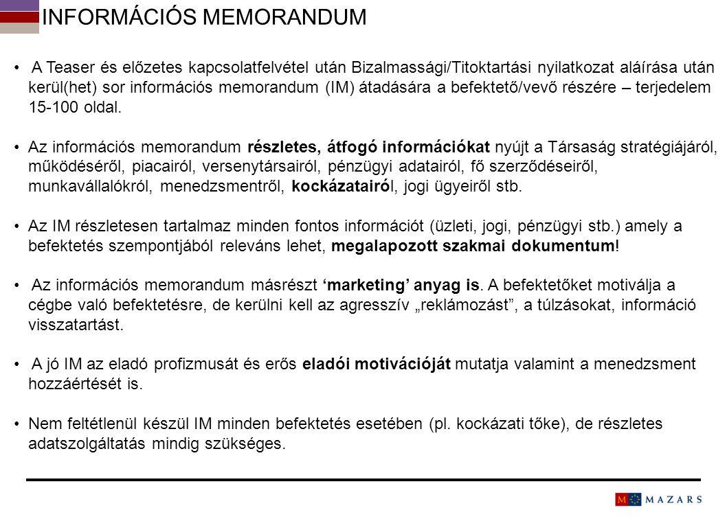 Információs memorandum
