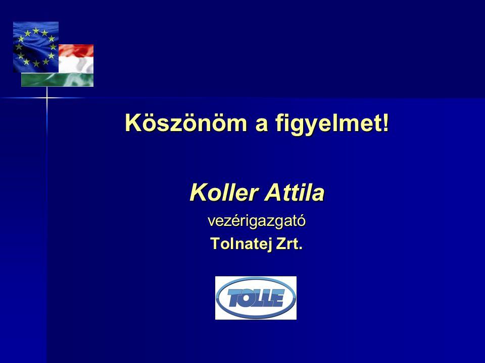 Köszönöm a figyelmet! Koller Attila