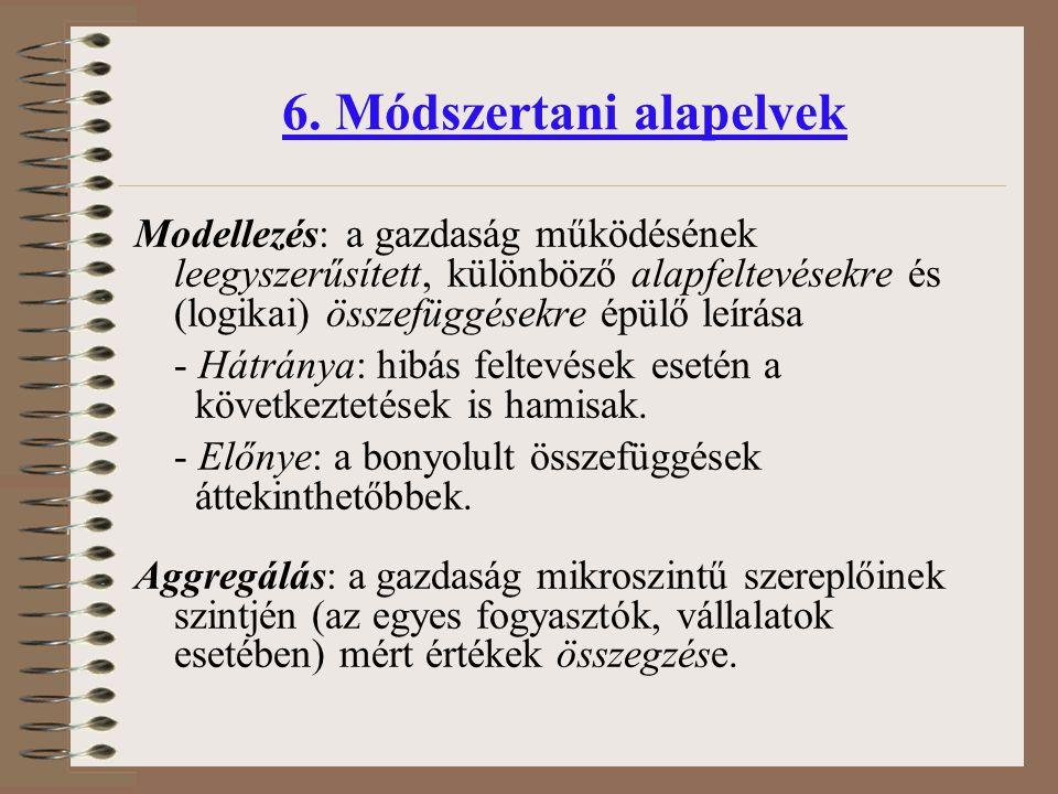 6. Módszertani alapelvek