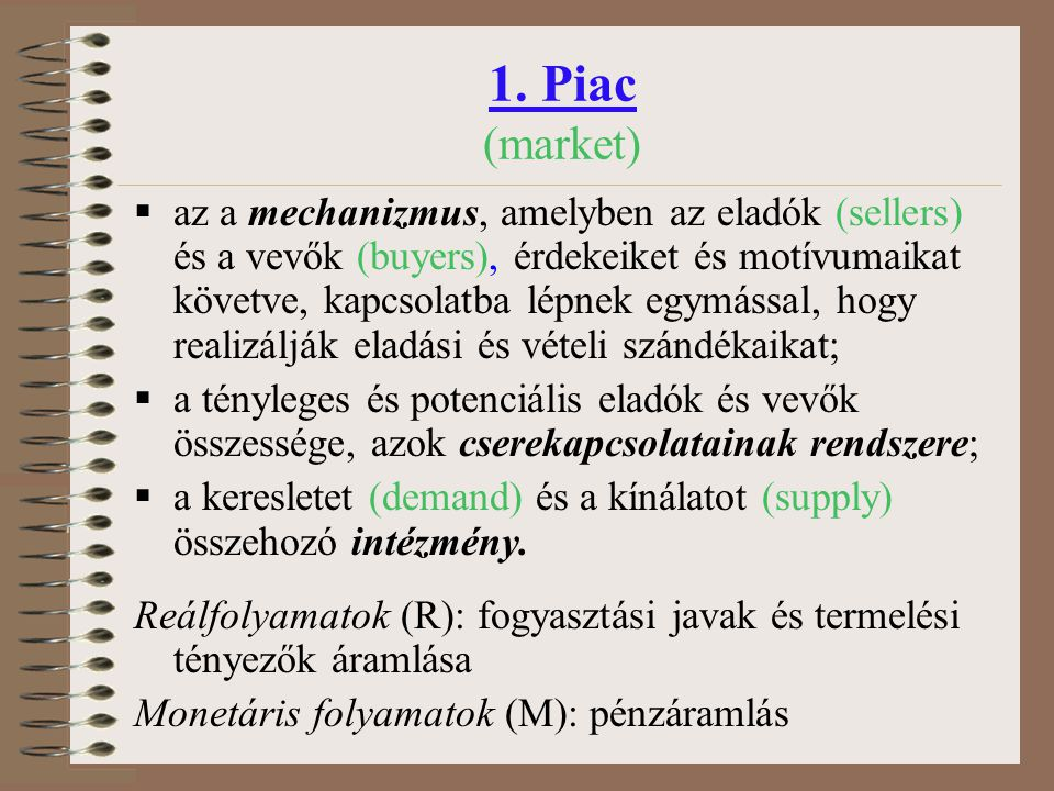 1. Piac (market)