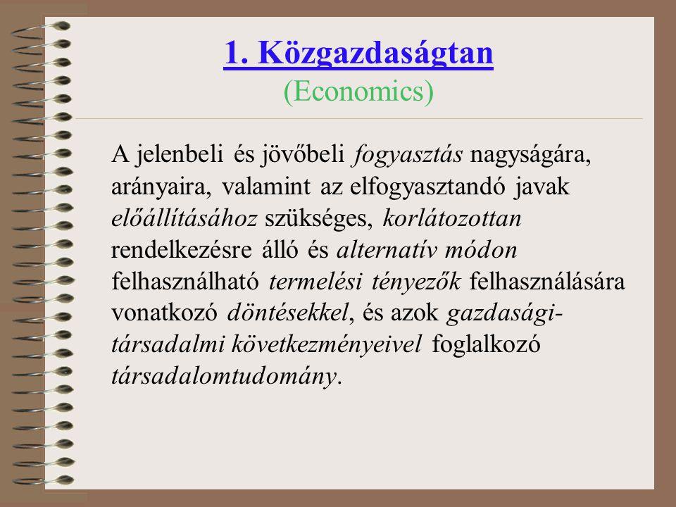 1. Közgazdaságtan (Economics)