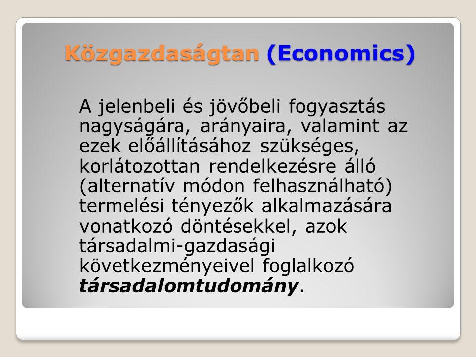 Közgazdaságtan (Economics)