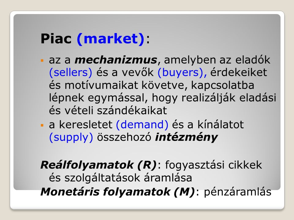 Piac (market):