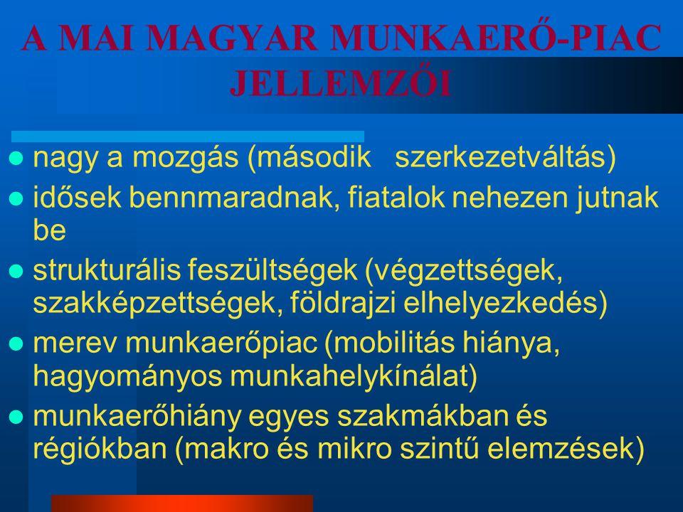 A MAI MAGYAR MUNKAERŐ-PIAC JELLEMZŐI