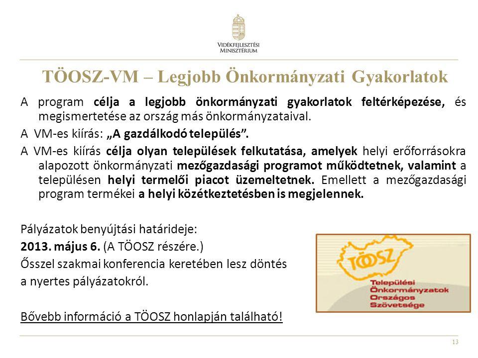TÖOSZ-VM – Legjobb Önkormányzati Gyakorlatok