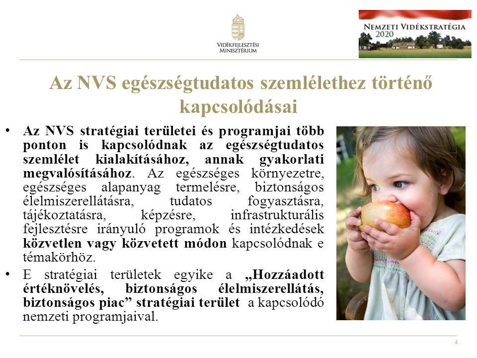 Az NVS egészségtudatos szemlélethez történő kapcsolódásai
