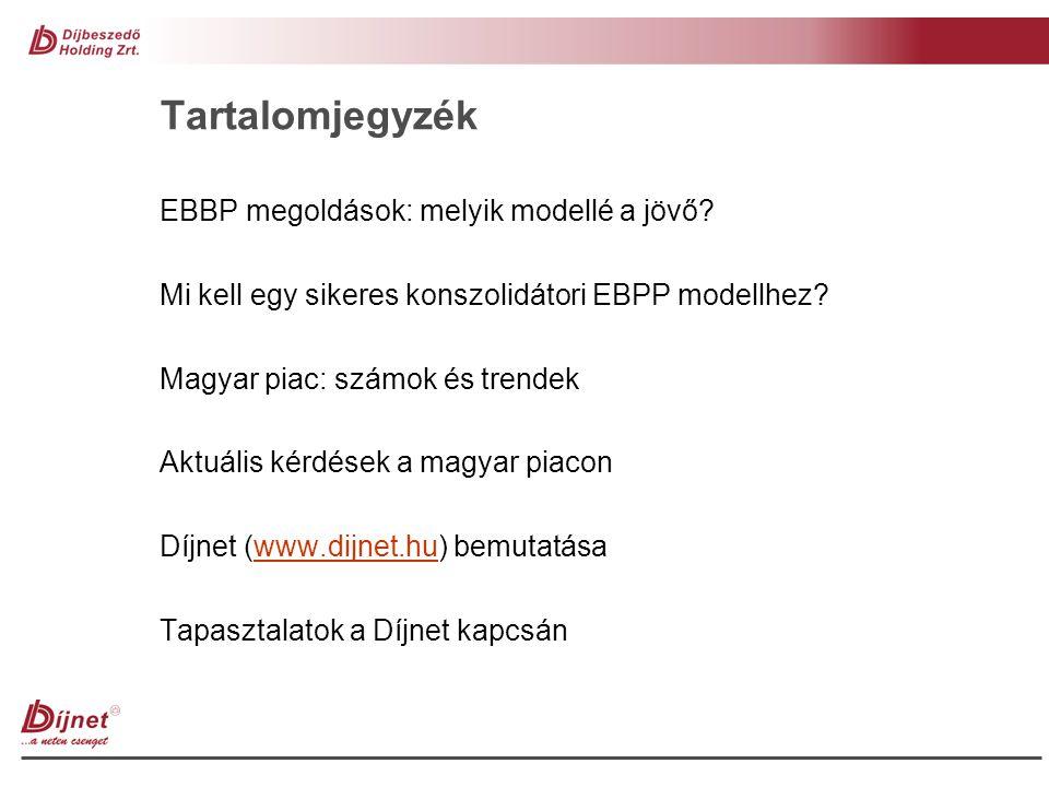 Tartalomjegyzék EBBP megoldások: melyik modellé a jövő