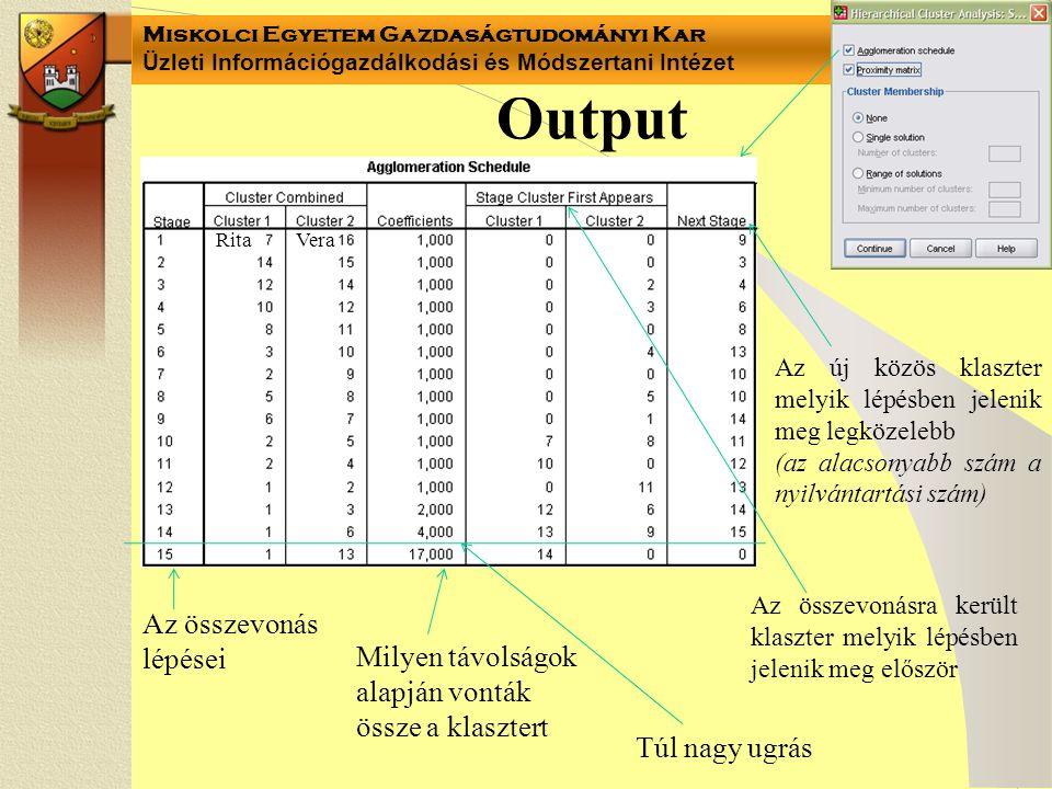 Output Az összevonás lépései