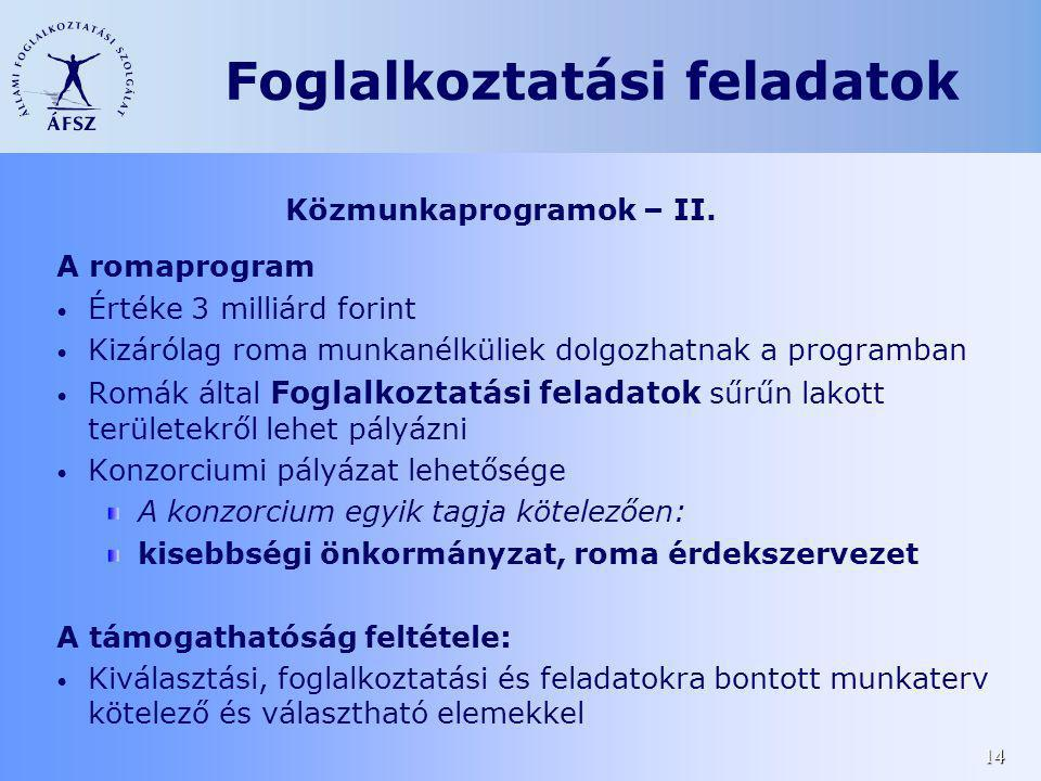 Közmunkaprogramok – II.