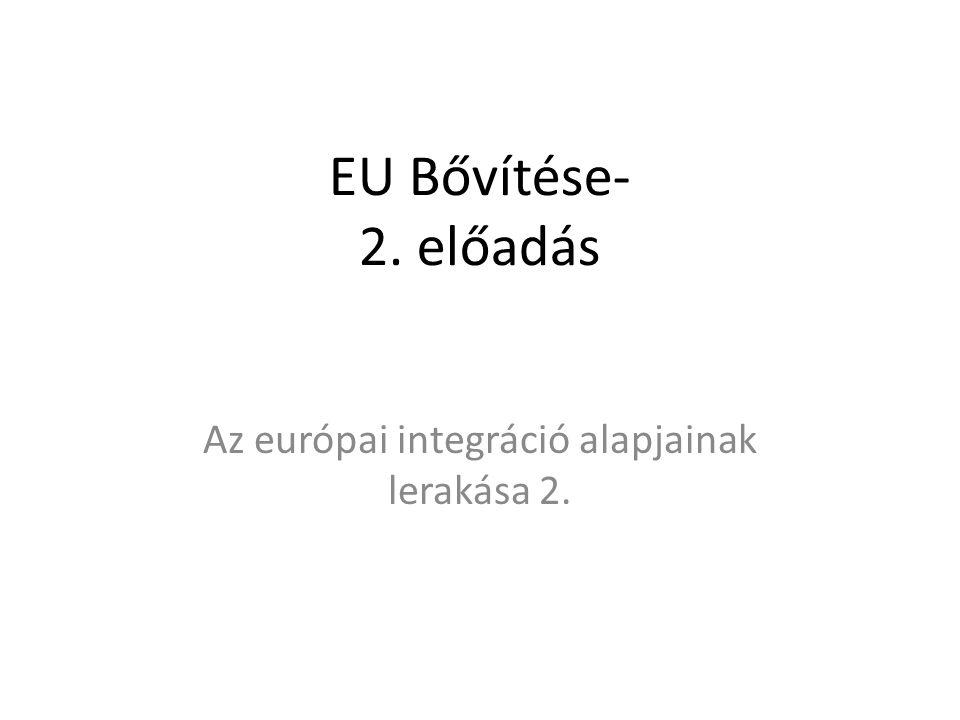 Az európai integráció alapjainak lerakása 2.