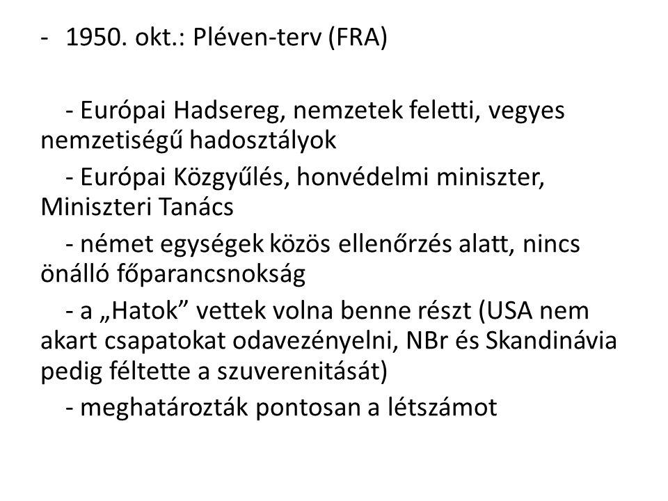 1950. okt.: Pléven-terv (FRA)