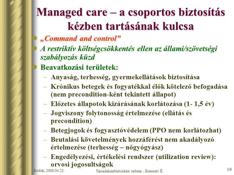 Managed care – a csoportos biztosítás kézben tartásának kulcsa