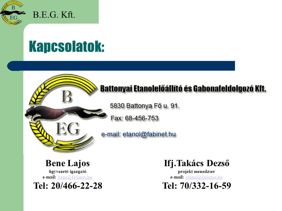 e-mail: bene@fabinet.hu e-mail: etanol@fabinet.hu